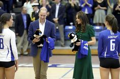 Kate Middleton Photos Photos - Prince William, Duke of Cambridge and Catherine, Duchess of Cambridge are presented with gifts on a visit to Kelowna University during their Royal Tour of Canada on September 27, 2016 in Kelowna, Canada. Prince William, Duke of Cambridge, Catherine, Duchess of Cambridge, Prince George and Princess Charlotte are visiting Canada as part of an eight day visit to the country taking in areas such as Bella Bella, Whitehorse and Kelowna. - 2016 Royal Tour to Canada of…