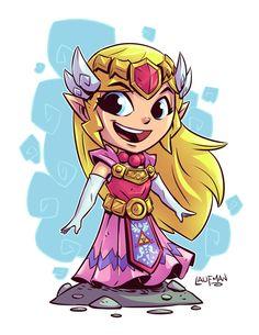 Princess Zelda - Legends of Zelda Chibi Characters, Video Game Characters, Anime Chibi, Character Art, Character Design, Chibi Marvel, Art Jokes, Cute Chibi, Pics Art