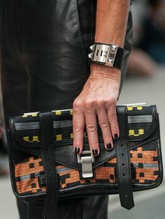Street Style at Spring 2014 Fashion Week - NYFW Street Style Pictures - Marie Claire Nyfw Street Style, Spring Street Style, Fashion Pictures, Style Pictures, Hermes Bracelet, Holy Chic, Valentino Bags, Luxe Life, Spring 2014
