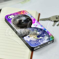 Funny Dolla Dolla Bill Sloth World on Nebula for iPhone 5/5c/6/6 Plus Hard Case #UnbrandedGeneric