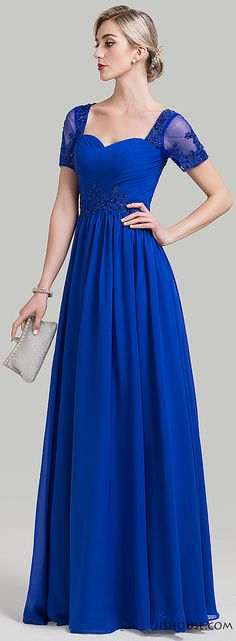Make a hot entrance in this cool blue! #Motherofthebridedress