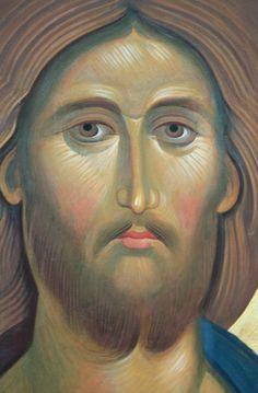 Religious Images, Religious Icons, Religious Art, Byzantine Art, Byzantine Icons, Spiritual Paintings, Religion Catolica, Jesus Prayer, Jesus Face