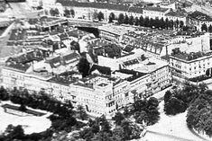Übersicht über die östliche Platzseite des Alsenplatzes bzw. der Straße, Ausschnitt aus größerer Fotografie von ca. 1925 http://www.stadtbild-deutschland.org/forum/index.php?thread/260-berlin-in-alten-bildern/
