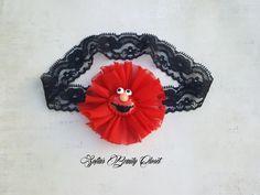 Elmo Headband. Elmo Birthday. Sesame street birthday. Sesame street headband…