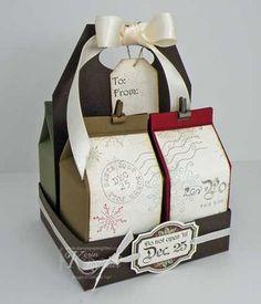 Christmas treats - milk carton box                                                                                                                                                     More
