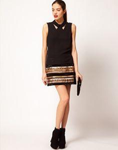 Enlarge Vero Moda Textured Woven Mini Skirt