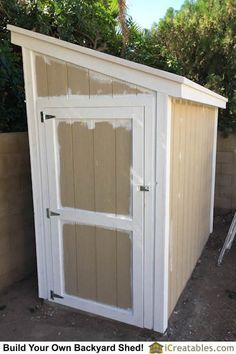 The trim on the shed is primed and painted white. The overlap is ok because the . - The trim on the shed is primed and painted white. The overlap is ok because the body paint will cov - Backyard Sheds, Outdoor Sheds, Outdoor Landscaping, Garden Sheds, Hot Tub Pergola, Curved Pergola, Diy Storage Shed, Diy Shed, Backyard Storage