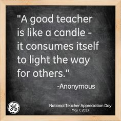 Join us in celebrating teachers! #quote