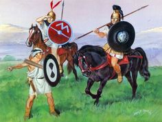 """""""Cavalrymen and Veles. Thessaly, Second Macedonian War, 200-197 BC"""", Angus McBride"""