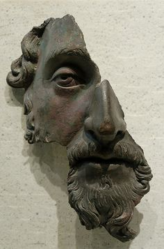 Bronze Mask of Marcus Aurelius in the Louvre, photo by Dead Dog Barking, via Flickr