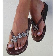 Aspiga Tatu Silver Heel Thong Sandals