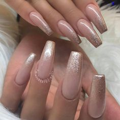 Blush Pink Nails, Nude Nails, Hot Nails, Swag Nails, Glitter Nails, Cuffin Nails, White Tip Nails, Neutral Acrylic Nails, Pink Und Gold