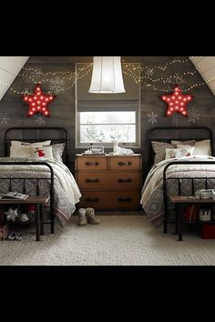 attic bedroom, would be cute kids room