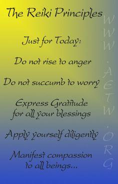 The 5 Reiki Precepts