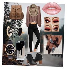 """""""Autumn"""" by daffbugg on Polyvore featuring Old Navy, Jaeger and Lime Crime"""