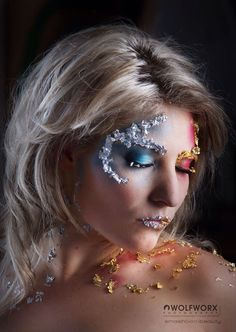 Fire and ice fantasy makeup. #fireandice #fantasy #photoshoot