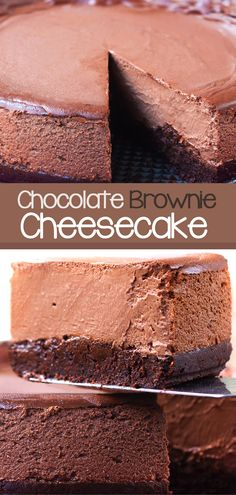 This brownie chocolate cheesecake is the best easy chocolate dessert recipe