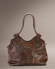Frye Vintage Stud Shoulder Bag Burnt Red 71