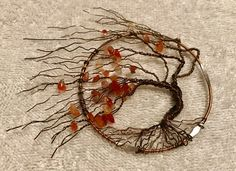 Wire Pendant, Wire Wrapped Pendant, Wire Wrapped Jewelry, Wire Jewelry Designs, Handmade Wire Jewelry, Tree Of Life Jewelry, Tree Of Life Pendant, Wire Crafts, Jewelry Crafts
