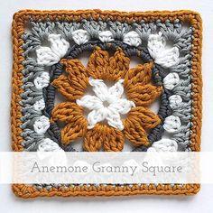 Anemone Granny Square   Free pattern + tutorial                                                                                                                                                                                 More