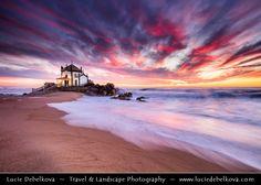 Portugal - Porto - Capela do Senhor da Pedra at Sunset by  Lucie Debelkova / http://ift.tt/16wNTM2