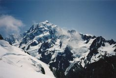 #greatwalker Mt Aorangi.  Seen while I was descending the Copland Pass.