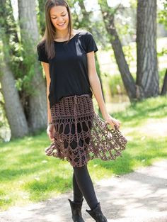This crochet skirt would be a fun layer. Colorful Crochet Lace: Skirt