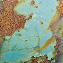 Wall mural - Turquoise and Rust