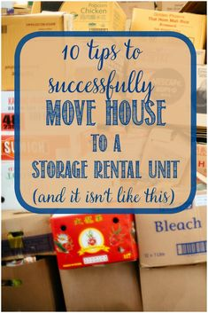 10 Tips For Packing Your Home Into a Storage Unit Storage And Organization storage unit organization tips Moving Day, Moving Tips, Moving House, Moving Hacks, Storage Rental, Diy Storage, Kitchen Storage, Budget Storage, Storage Ideas