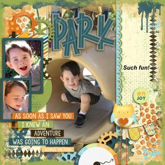 Andrew was like a little monkey when we took him to the park!  I used a combination of three kits for this layout--a template from Tinci found here:  http://store.gingerscraps.net/A-year-in-review-March.html a kit from JUST BECAUSE Studio--A is for Awesome found here:  http://store.gingerscraps.net/A-is-for-Awesome-Page-Kit-by-JB-Studio.html and a Bundle from Little Rad Trio--Adventure Awaits found here:  http://store.gingerscraps.net/Adventure-Awaits-full-kit.html