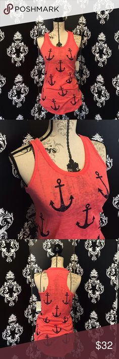 NWT! ⚓️ Super Cute Anchor Tank! This tank is so cute with its blue anchor design printed on a beautiful pink, the material is soft and light! A great addition to your wardrobe! Perfect for boating or just a casual summer day! Brand new! Smoke free home. Tops Tank Tops