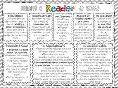 Classroom Freebies: Building Reading Skills at Home - Parent Handout