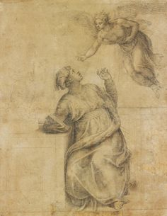 michelangelo italian 14751564 annunciation to the virgin 1547 1550
