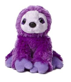 This sloth has bright purple fur that is super soft and cuddly. Cuddly sloth companion High quality, exceptional detail, soft to the touch May require processing time of 8 - 10 business days to ship. Purple Love, All Things Purple, Bright Purple, Purple Stuff, Purple Hair, Plush Animals, Baby Animals, Stuffed Animals, Two Toed Sloth