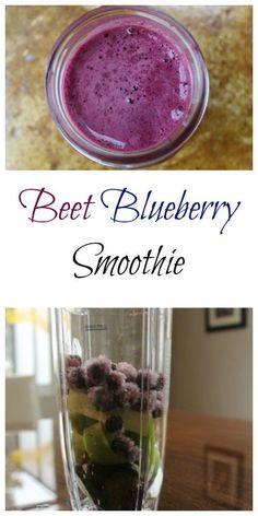 Beet Blueberry Smoothie Recipe from Having Fun Saving.