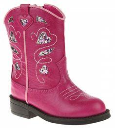 RUUM Toddler Girls 'Glitter Cowgirl Boot' $9.99