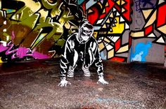 Amazing series of living graffiti art using actual people made to look like they belong in their 2D graffiti background.