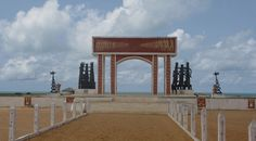 Door of No Return, Ouidah - Benin. Ouidah used to be the harbour from where people where shipped to America to work as slaves.