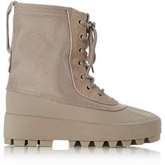 adidas Originals by Kanye West YEEZY SEASON 1 Women's Yeezy 950 Boots- ($625) ❤ liked on Polyvore featuring shoes, boots, ankle booties, ankle boots, nude, lug sole boots, lacing boots, bootie boots, round toe boots and nude boots