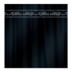 simple royal blue shower curtain with #floral border $45.99 #homedecor #bath