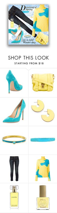 """Dreaming"" by jax522 ❤ liked on Polyvore featuring Gianvito Rossi, Proenza Schouler, Elizabeth and James, Kate Spade, Blumarine, R13, Delpozo, Estée Lauder, ncLA and dream"