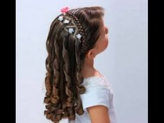- All For Hairstyles Flower Girl Hairstyles, Little Girl Hairstyles, Easy Hairstyles, Wedding Hairstyles, Hair Express, Wedding Hair Inspiration, Cut My Hair, Loose Curls, Curly Hair Styles