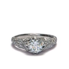 Front view of Replica Art Deco Engagement Ring