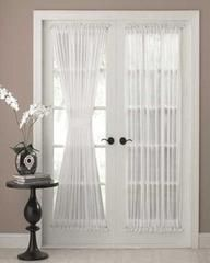 Door Panel Curtains – check various designs and colors of Door Panel Curtains on Pretty Home. Also check Door Curtains French Door Curtain Panels, Door Panel Curtains, French Door Windows, French Doors Patio, Patio Doors, Windows And Doors, Glass Door Curtains, Door Panels, French Doors With Curtains