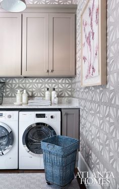 Wallpapered Laundry Rooms | Centsational Girl