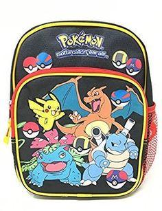 New Nintendo Pokemon Go Pikachu & Friends Boys & Girls 10' Mini School Backpack. #Nintendo #Pokemon #Pikachu #Friends #Boys #Girls #Mini #School #Backpack