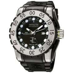 Invicta Men's 6652 Reserve Collection GMT Black Dial Black Rubber Watch Invicta. $239.00. Water-resistant to 1640 feet (500 M). Flame-fusion crystal; Brushed and polished stainless steel case; Black rubber strap. Precise, high-quality Swiss-Quartz movement. Black dial with silver-tone hands and dot hour markers; Luminous; Stainless steel unidirectional bezel; GMT; Screw-down crown. Date function