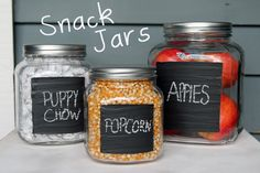 from the guest room: Snack Jars DIY