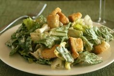 This classic Caesar dressing is absolutely divine and it has NO raw eggs or anchovies!