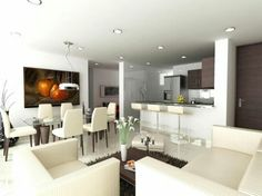 Sala comedor cocina integrado